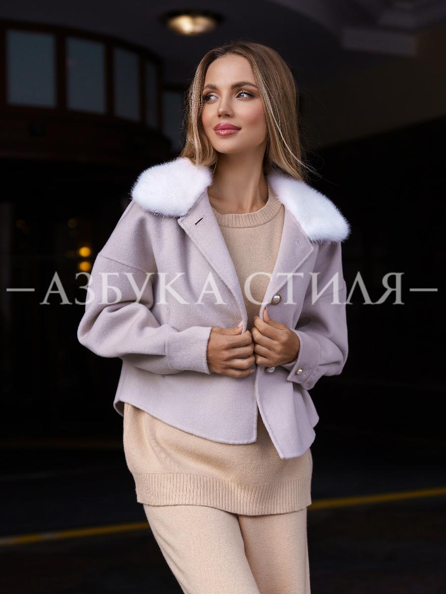 Шерстяная куртка с мехом норки Inness