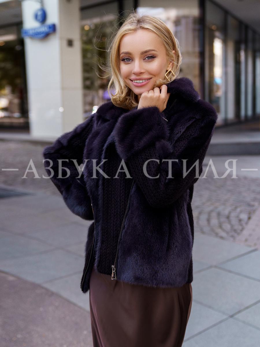 Норковая куртка на молнии Greta