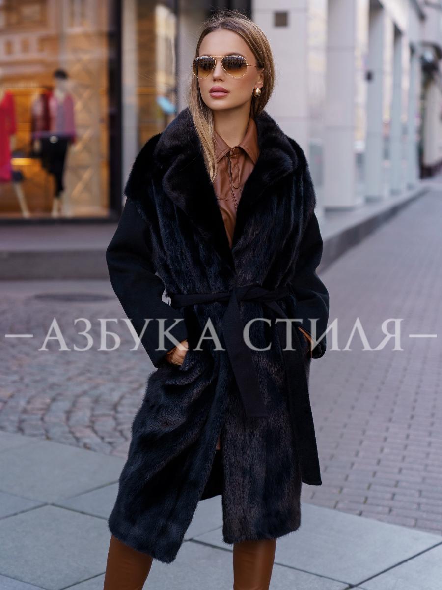 Пальто с мехом норки Nora